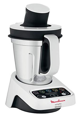 Moulinex HF4041 Volupta Multifunktionsküchenmaschine (1000 Watt, 1,5 l Nutzkapazität) weiß/Dunkelgrau