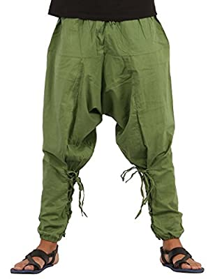 WAIST SIZES FROM 28 – 38 INCH: The pants have an elastic drawstring waist and will fit waist sizes from 28 – 38 Inch.The pants have knots for tying as well 40 INCH LENGTH: The length of the pants in 40 inch 2 DEEP POCKETS: The pants have 2 pockets in...