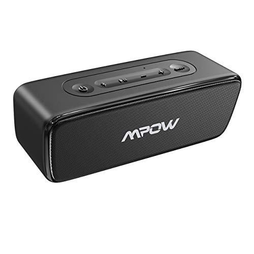 Altavoz Portátil Bluetooth 20W, Mpow R6 Altavoz Bluetooth TWS, Impermerable IPX7, Altavoz Portátil Exterior, Bass+ y Hi-Fi, 24H de Reproducción, para Móvil, Tableta, Fiesta, Oficina