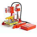 WZTO 3D Printer for Kids & Beginners,Mini 3D Printers with Low Noise Silent Motherboard, Small 3D Printing Machine Fast Heating DIY Home with Testing PLA Filament, Printing Size 4'×4'×4', White Orange