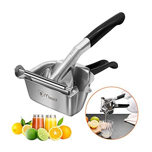 Moocii Manual Lemon Squeezer High quality 304 stainless steel Anti-corrosion lemon squeezer Sturdy durable lemon squeezer Dishwasher safe
