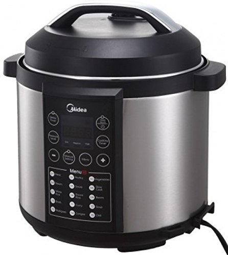 MIDEA 6 Qt 6 in 1 Programmable Electric Pressure Cooker, Meat/Stew, Poultry, Steam, Slow Cook, Rice, Beans/Chili, Congee, Soup, Multi Grain, Saut