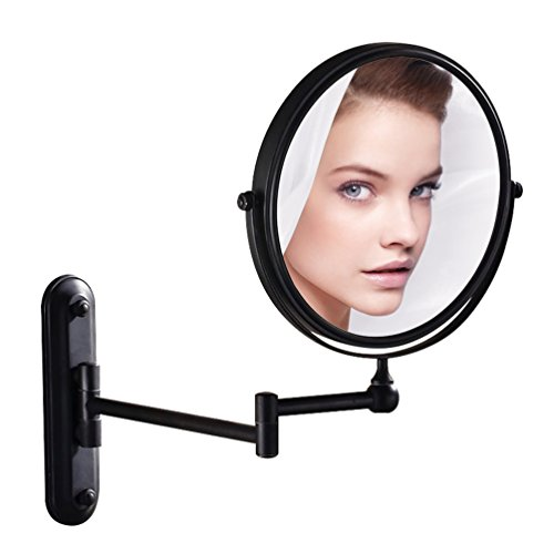 GURUN 8 Inch Bronze Magnifying Makeup Mirror Wall Mounted for Bathroom with 10x Magnification M1207O(8in,10x)