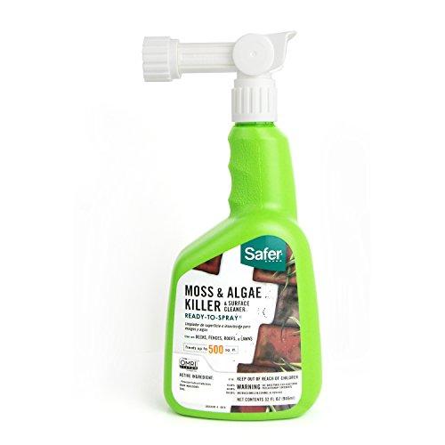 Safer Brand 5324 Moss and Algae Killer and Surface Cleaner, 32 oz. Hose Sprayer