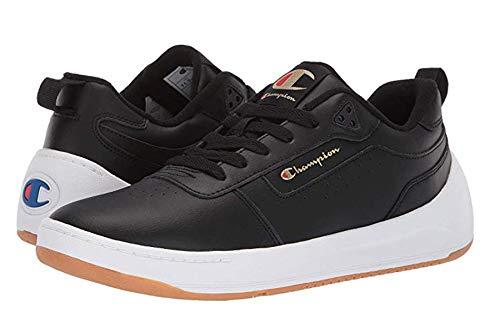 Champion Mens Super C Court Classic Leather Classic Shoes (10.5 M US, Black)