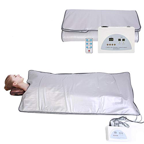 TOUKUN Digital Far-Infrared (Fir) Heat Sauna Blanket 2 Zone Controller To Reduce Weight Thin Body Home Beauty 1