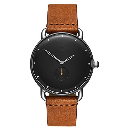 MVMT Herren Analog Quarz Uhr mit Leder Armband D-MR01-BSL