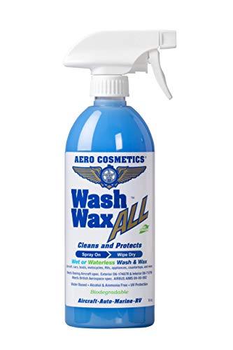 Wet or Waterless Car Wash Wax 16 oz. Aircraft Quality Wash...