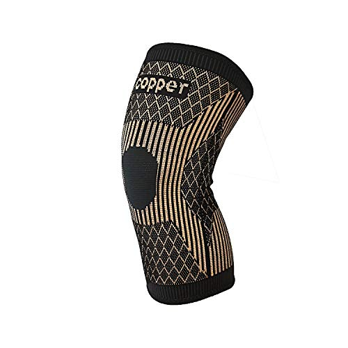 CopperKneeBrace-CopperKneeSleeveCompressionForSports,Workout,ArthritisPainRelief andSupport-Single (L)