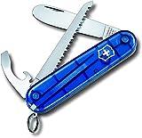Victorinox Taschenmesser My First Victorinox (9 Funktionen, Abgerundete Klinge, Kette und Kordel) blau Transparent