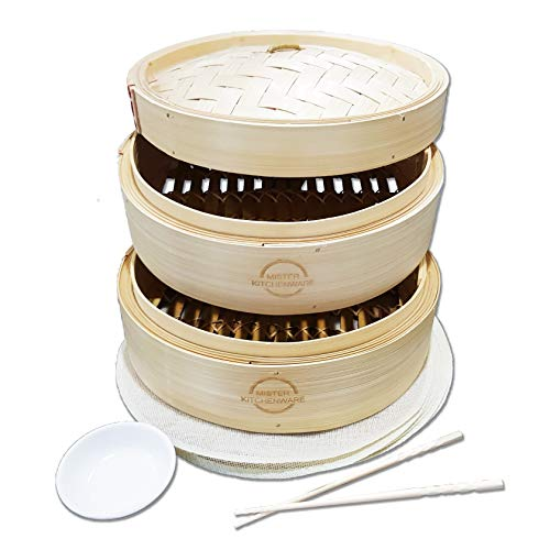 41cQ70R94LL - The 7 Best Bamboo Steamers- A Healthy And Inexpensive Way to Cook