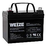 Weize 12V 35AH Battery Rechargeable SLA Deep Cycle AGM Replace 12 Volt 33AH 34AH 36AH 30AH, in Series 24V 36V 48V