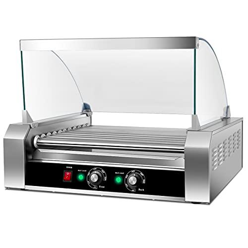 Safstar Commercial 30 Hot Dog 11 Roller Machine Stainless...