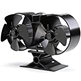 Fire Fans for Stove,CRSURE Upgrade8 Blades Stove Fan Wood/Log BurnersFanand WoodburnerFireplace Fan/Silent Operation/Eco Friendly & Increased Efficient for Large Room.