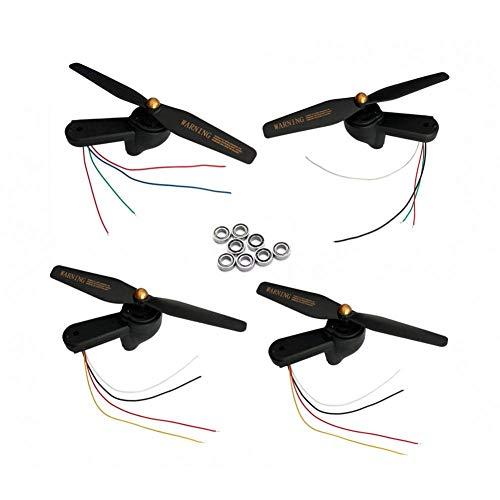 XHUENG Alta qualit Cuscinetto Pieghevole Braccio Ala Include Motori Motore Ingranaggi ASSE elica Set/Misura per Visuo Xs812 GPS rc Drone Quadcopter Parti (Color : As Shown)