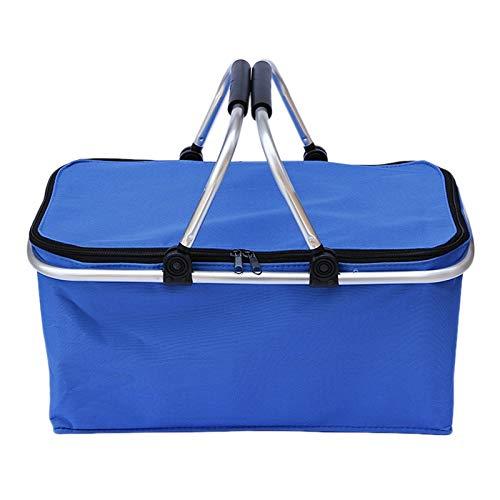 JVSISM Faltbarer Einkaufs Korb mit Doppel Griff Tragbarer Isolierter Einkaufs Korb Faltbarer Einkaufs Korb Picknick Korb