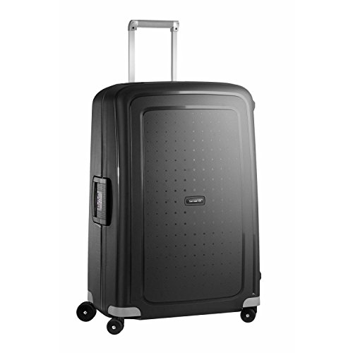 Samsonite S'Cure Hardside Luggage with Spinner Wheels, Black, Checked-Large 28-Inch