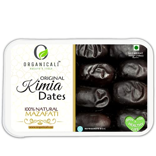 ORGANICALI Kimia Dates, Fresh & Juicy Dates 500++GMS , Instant Energy & Immunity Booster Pack