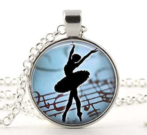 Collar con colgante de cristal de bailarina bailarina, joyer