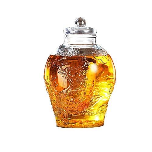 DHR- Bicchiere di Vino Botte di Birra for Uso Domestico Botte di Whisky Dispenser Decanter Rum Vino...
