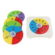 SM SunniMix Bruchkreise Satz von 5 Werten Und Farben Bringen Sie Bruchäquivalente Und Teile Dem Ganzen bei