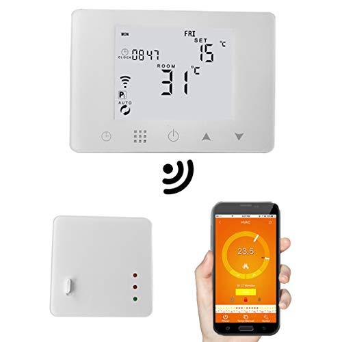 WiFi et RF Sans fil Thermostat de salle de bains Chaudière à gaz murale Chauffage Télécommande Régulateur de température Programmable