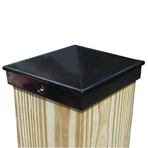 4x4 Fence Post Cap (3 1/2') Single Pack Black Powder Coated Aluminum - Mailbox, Lamp Post, Deck, Dock, Piling Caps