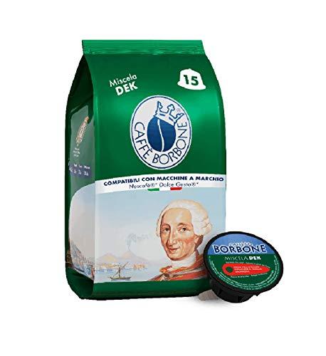 Caffè Borbone Miscela Decaffeinata - 90 capsule (6 confezioni da 15 capsule) - Compatibili Nescafè* Dolce Gusto*