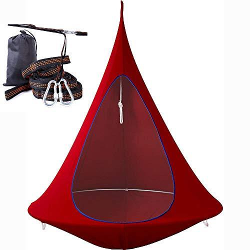 Apoliena Hängende Baumhängematte,Platz für Zwei Erwachsene bequem, Form konisches Zelt hängendes Baumzelt Kinder Pod Schaukel Sitz Hängematte Schaukelstuhl für Erwachsene und Kinder Indoor Outdoor