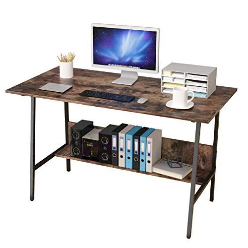 Bangoyopi Home Office Desk 47x24'' Workstation Vintage Sturdy Computer...