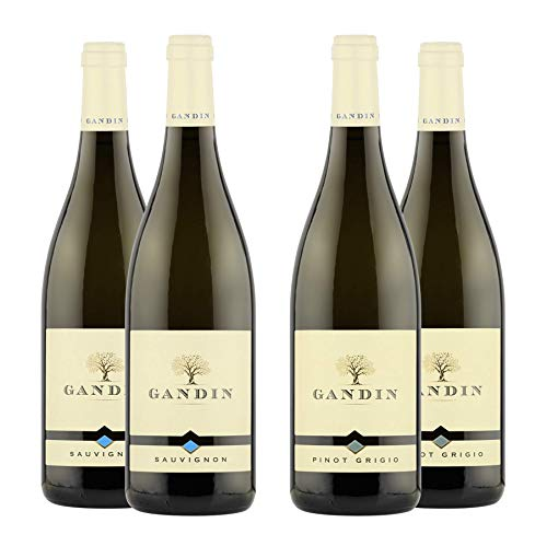 Pinot Grigio DOC 2x 0,75 L + Sauvignon DOC 2x 0,75 L | Friuli Isonzo | Gandin Wines | Idea Regalo