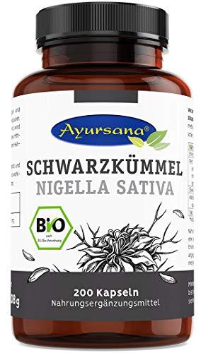 Vegane Schwarzkümmel Kapseln (200 Stück) | BIO-Qualität | halal | aus der Apotheke | 1800 mg Schwarzkümmel je Tagesdosis