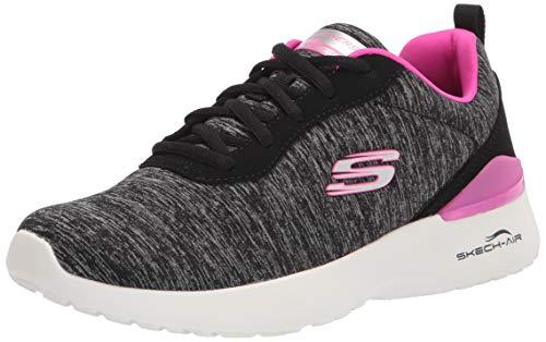 Skechers Skech-Air Dynamight Paradise Waves, Zapatillas Mujer, Negro/Rosa, 39 EU