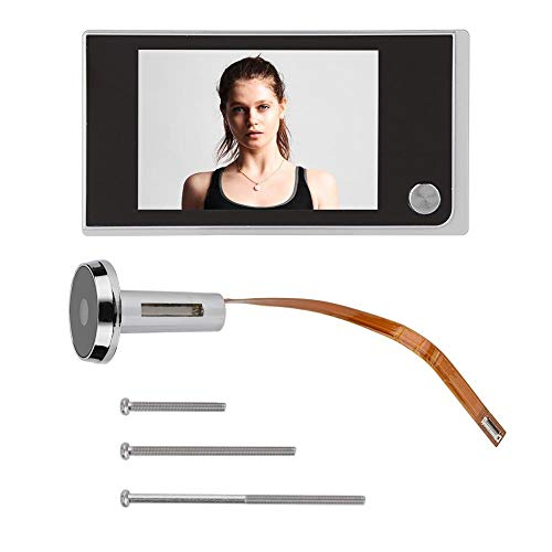 """Sistema de cámara de seguridad - 3.5""""Visor de puerta de 120 grados Mirilla Digital LCD Smart Home Monitoring Cámara Cat Eye"""