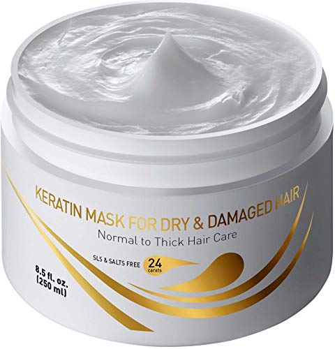 Vitamins Hair Mask Repair Treatment - Thick Coarse Dry and Damaged Hair Deep Conditioner Protein Masque with Argan and Keratin Deep Conditioning