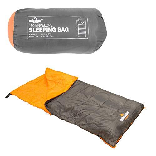 Sac de couchage à rabat Milestone Camping - Noir 170 x 75 cm