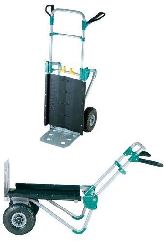 wolfcraft TS 1000 Transportsystem 5520000   2in1 Sackkarre & Schubkarre für Lasten bis 200 kg   Klappbarer Transportkarren für schwere Gartenmöbel, Brennholz, u.v.m.
