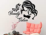Decoraciones de peluquería sexualizadas, peluquería, pared, dulce dama, decoración de mariposa, arte de vinilo