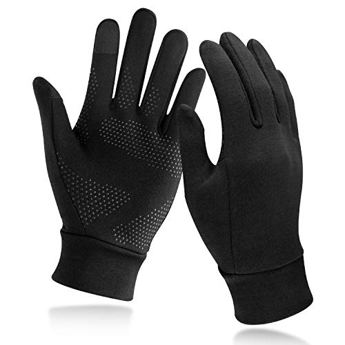 Unigear Running Gloves, Touch Screen Anti-slip Lightweight Gloves Liners for Cycling Biking Sporting Driving for Men Women
