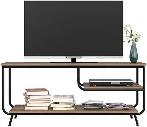 HOMECHO Mueble para TV con Estante para Reproductor de DVD Mesa para TV Vintage Industrial para Salón Mesa de Centro 109 x 40 x 51cm