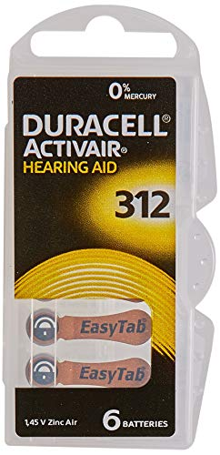 60 x Size 312 / BROWN - DURACELL EasyTab Hearing...