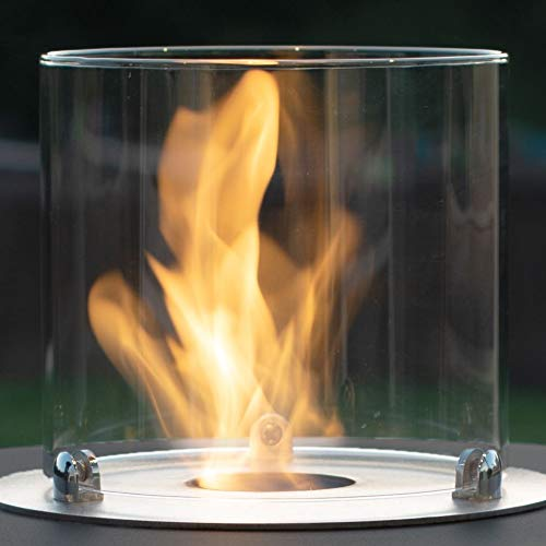 Muenkel Design Glass Cylinder for Ethanol Burners [Replacement Part 20 x 18 cm]
