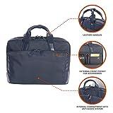Tucano-Business Bag para Laptop 15.6' y MacBook 15', con Bolsillo Acolchado para PC, iPad y Tablet. Maletín para Ordenador portátil, Hombre-Mujer con Correa de Hombro