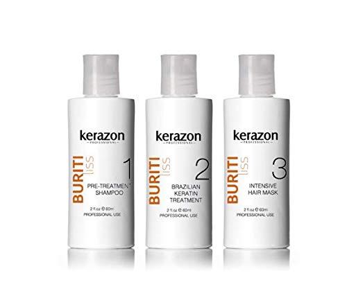 Brazilian Keratin Treatment Complex Blowout KERAZON kit 2oz/60ml - Tratamiento de Keratina Queratina Brasilea para Alisar Importada