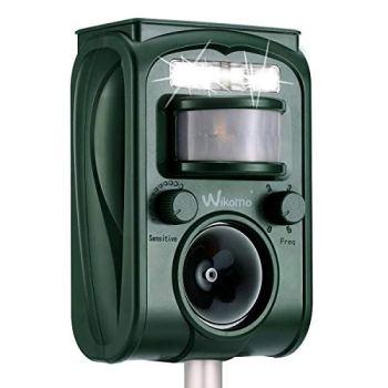 Répulsif à ultrasons pour chats - Gamme de fréquence : 9 kHz - 70 kHz - Fonctionne avec piles et flash - Répulsif à ultrasons pour chiens, chats, oiseaux, chiens (rouge)