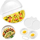 ManYee Egg Poacher 2 Cavity and Omelet Microwave Maker Microwave Egg Cooker Set for Quick & Healthy Breakfast