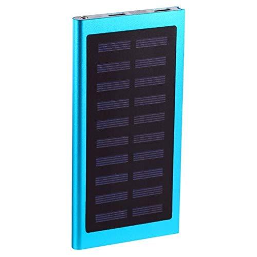 Sutinna Solar Power Bank 30000mah, Téléphone Mobile Externe Chargeur Rapide, 2 USB Packs Batterie Portable avec écran LCD, Compatible avec Les téléphones intelligents, tablettes et Autres appareils