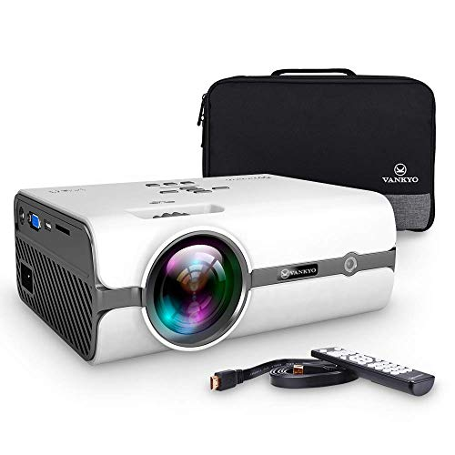 VANKYO Leisure 410 LED Projector with Carrying Bag and HDMI Cable, Portable Projector Supports 1080P, HDMI, USB, VGA, AV, SD Card, Compatible with PS3/PS4