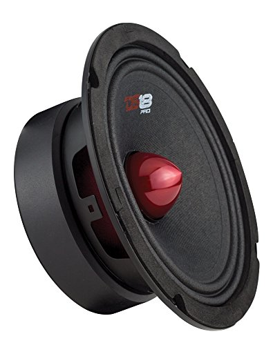 DS18 PRO-GM8B Loudspeaker - 8', Midrange, Red Aluminum Bullet, 580W Max, 190W RMS, 8 Ohms - Premium Quality Audio Door Speakers for Car or Truck Stereo Sound System (1 Speaker)