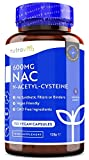 NAC N-acetil-cisteina 600mg - 150 capsule Vegan - 5 mesi Fornitura di NAC Supplemento - elevata biodisponibilità - senza additivi sintetici & Raccoglitori - Prodotte da Nutravita